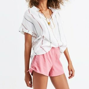 Madewell pull on side tie shorts casual cool